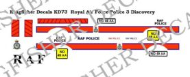 Royal Air Force Police Landrover Discovery